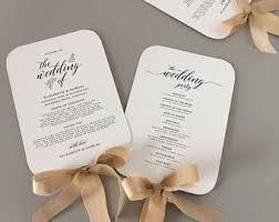 wedding fan programs templates fan wedding program template fan wedding programs instant