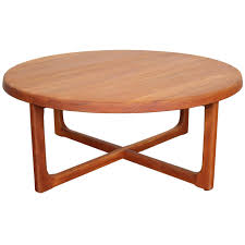 mid century round coffee table solid teak coffee table coffee tables thippo