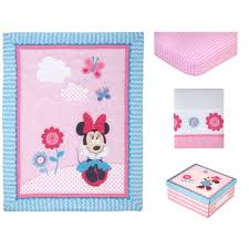 Minnie Bedroom Set by Disney Minnie Mouse Happy Day 4 Piece Crib Bedding Set Walmart Com