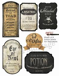halloween bottle labels download u0026 print by marysmontage on etsy