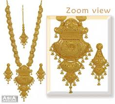 bridal necklace set images Gold bridal necklace set ajns53541 22k gold designer long jpg