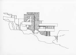 Frank Lloyd Wright Floor Plan Architecture As Aesthetics Fallingwater