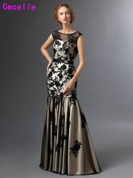 robes m re du mari élégant sirène noir chagne mère de la mariée robes 2017 longue