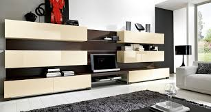 Designs For Living Room Cupboard White Wall Mounted Modern Tv - Living room cabinet design