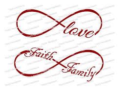 family infinity filled machine embroidery digitized design pattern