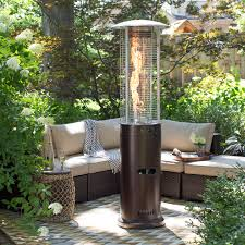 tube patio heater az patio heaters mocha tall patio heater with table hayneedle