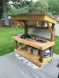 Simple Outdoor Kitchen Designs 33 Kitchen Designs Our Diy Outdoor This Grey House Diy Neriumgb