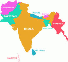 south asia countries map who are south asians