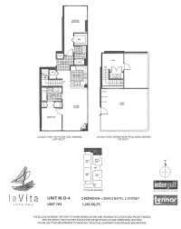 2 Bedroom Condo Floor Plans La Vita Condos Downtown San Diego Condos