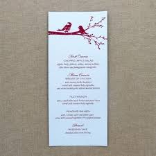 wedding menu templates aj print