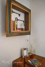designer wall shelves diy repurposed picture frame wall shelves h20bungalow