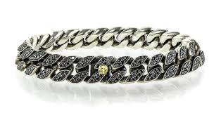 black diamonds bracelet images David yurman sterling silver black diamonds paved curb chain jpg