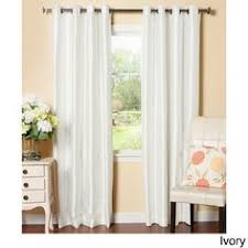 White Faux Silk Curtains Treasure Faux Silk Curtain Panel Set Of 2 Get Unbeatable