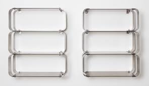 french stainless steel modular wall bookcase 1970s for sale at pamono