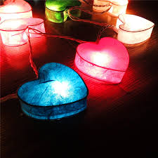 Red Heart Fairy Lights by Heart Shaped Solar String Lights 4 Jpg