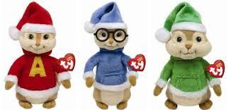 Alvin And The Chipmunks Christmas Ornament - amazon com ty beanie babies alvin u0026 the chipmunks set of 3