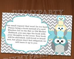books instead of cards for baby shower poem bring a book insert card baby shower bring a book instead of a