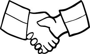 friendship handshake coloring page wecoloringpage