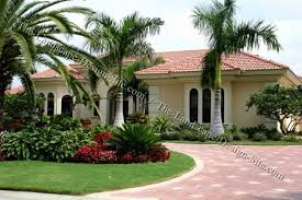 Tropical Landscaping Ideas by Tropical Circular Driveway Planting Ideas Front Yard Ideas