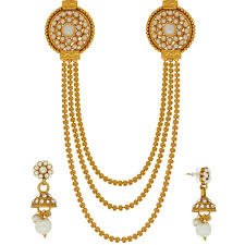 long pearl necklace set images Buy spargz traditional design long haram pearl necklace set jpg