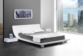 platform bedroom ideas stylish modern bedroom nightstands story white platform bed and