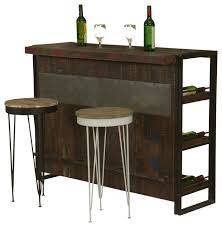 Wine Bar Furniture Modern by Modern Industrial Mango Wood U0026 Iron Wine Bar Cabinet W 2 Stools