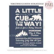 bear baby shower invitation bear cub baby shower invitation