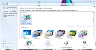 theme de bureau windows 7 windows 7 comment changer mon fond d écran clubic