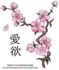 cherry blossom tree tattoo design on back