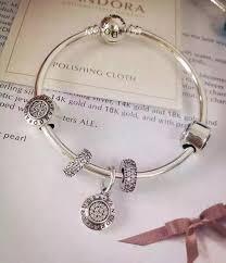 charms bracelet online images Pandora sterling silver bangle charm bracelet cb01687 pandora jpg