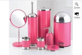 8 piece bathroom accessories set pink amazon co uk kitchen u0026 home