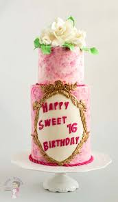 make birthday cake pink sweet sixteen birthday cake with sugar gardenias veena azmanov