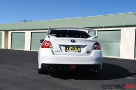 subaru wrx hatch white 2016 subaru wrx sti review track test video performancedrive