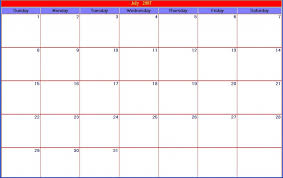 30 day calendar template great printable calendars example