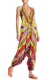 harem jumpsuit geometric printed harem jumpsuit in yellow shahida parides