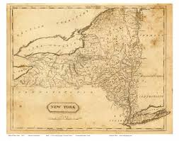 A Map Of New York State by Prints Of Old New York State Maps