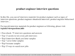 Product Engineer Resume Product Engineer Interview Questions