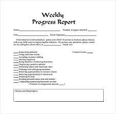 it progress report template qualified weekly progress report template with column for note or