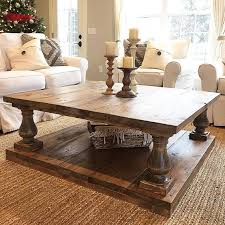 rustic table ls for living room large square rustic baluster wide plank coffee table wide plank