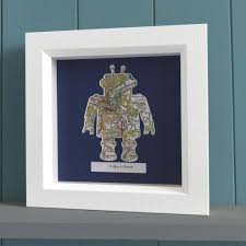 personalised robot map gift unusual presents butler and hill