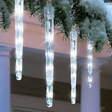 cool white icicle lights buy holiday time battery operated 8 piece led dripping icicle