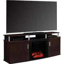carson fireplace tv console for tvs up to 70