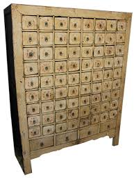 consigned antique mongolian apothecary cabinet rustic