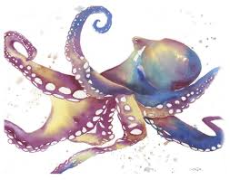 watercolor painting tutorial speed painting an octopus by katrina