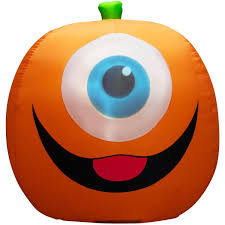 5 u0027 projection inflatable eyeball pumpkin walmart com