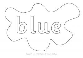 blue coloring pages coloring
