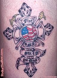 firefighter maltese cross grey ink tattoo tattoo viewer com