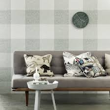 Grey Check Sofa Check Wallpaper From Gingham To Plaid Ideal Home