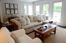 slipcovered sectional sofa transitional living room cote de