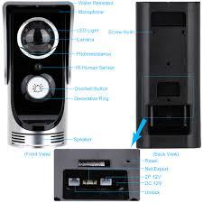 wireless video door phone wifi video doorbell intercom peehole